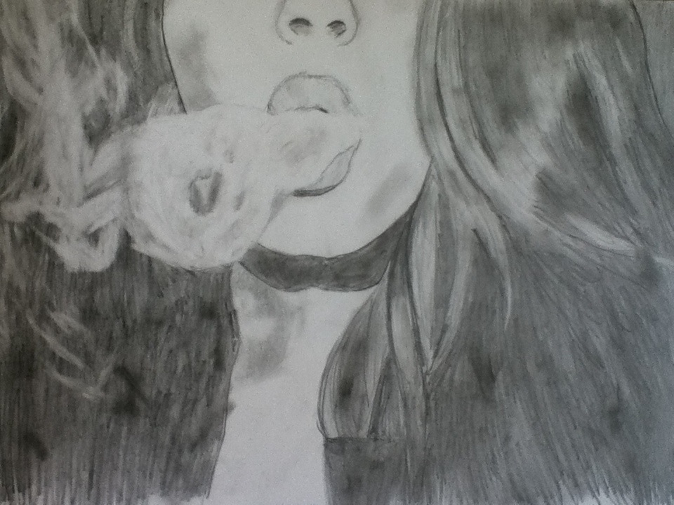 Girl Blowing Smoke Ring Discovered By Bubblegum Bitch