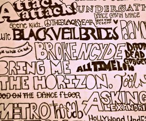 bullet for my valentine, all time low, and paramore image
