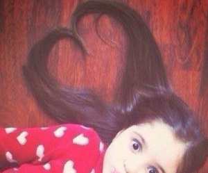 hair, baby, and heart image