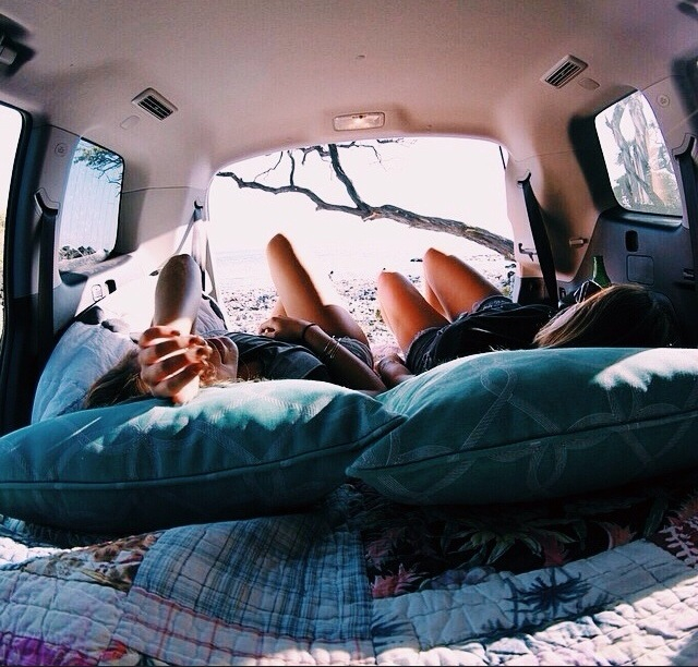 backseat, couple, and relaxed image