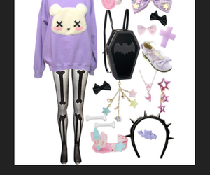 dress, goth, and pastel image
