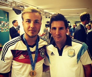 mario gotze, messi, and germany image