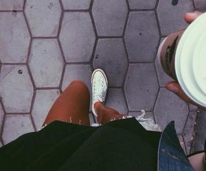 fashion, coffee, and converse image
