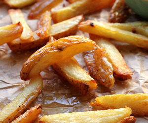 fries, food, and potatoes image