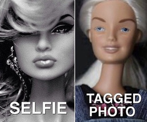 selfie, barbie, and funny image