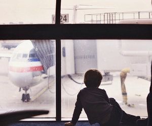 airport, pale, and window image