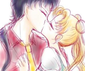 kiss and sailor moon image