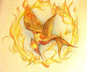 mockingjay, drawing, and the hunger games image