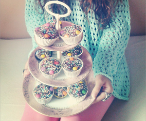 birthday, muffins, and cupcakes image