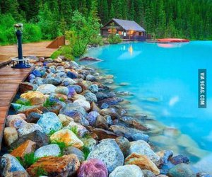 blue, lake, and water image