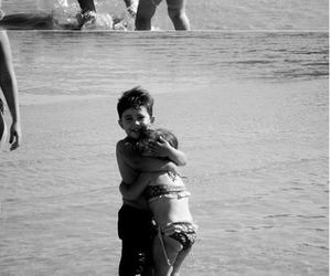 love, kids, and black and white image