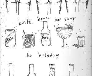 alcohol, birthday, and bongs image