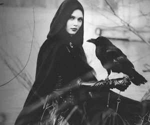 raven, witch, and black image