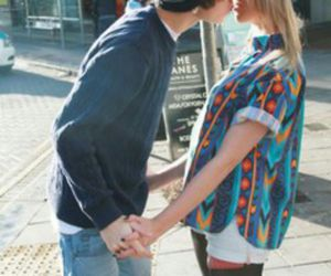 love, kiss, and boyfriend image