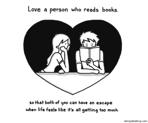 love, book, and drawing image