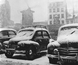 cars and snow image