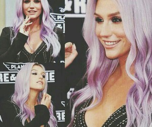 hair, kesha, and pink image