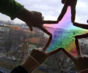 stars, rainbow, and friends image