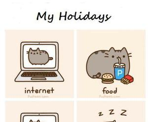 happines, pusheen cat, and relatable image