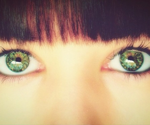 eye, girl, and greeneyes image