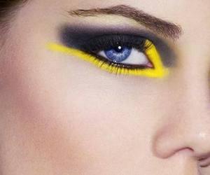 eye makeup, makeup, and lips image