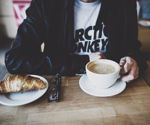 coffee, arctic monkeys, and grunge image