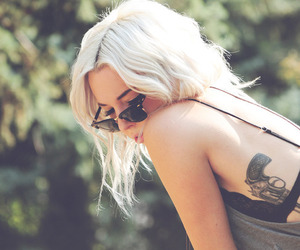 blonde, sunglasses, and free image