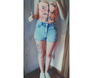 Bershka, outfit, and shorts image