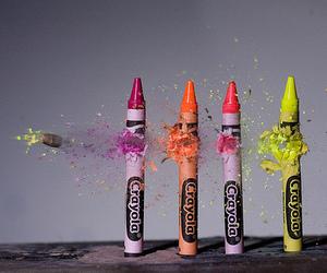 crayon, bullet, and crayola image