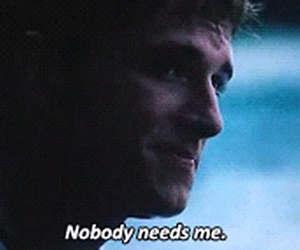 nobody, alone, and hunger games image