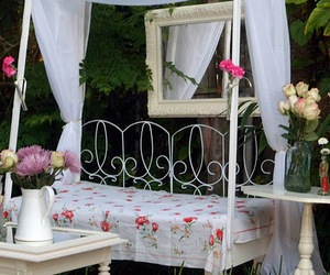 canopy, daybed, and floral image
