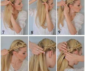 boho, braid, and diy image