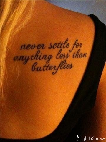 tattoo, butterfly, and quote image
