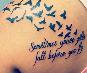 tattoo, bird, and fly image