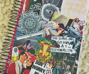 Collage, hipster, and notebook image