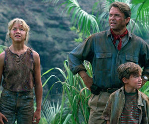 cast, Jurassic Park, and then and now image