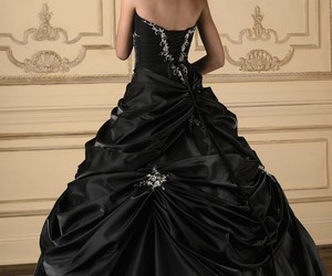 black, vestidos de fiesta, and dress image