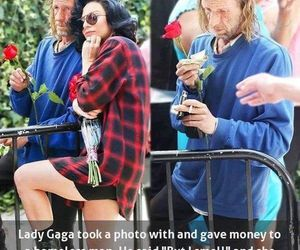 Lady gaga, homeless, and sweet image