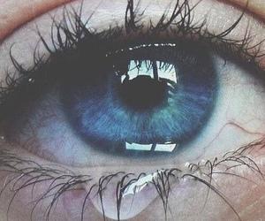 eye, cry, and sad image