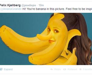 banana, funny, and ariana grande image