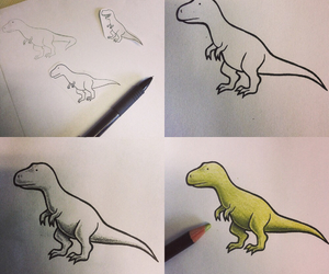 dino, dinosaur, and drawing image