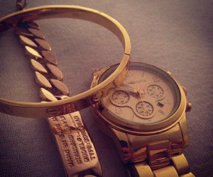 cartier, gold, and watch image