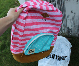 backpack, photography, and pink image