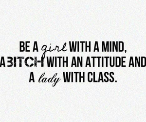 girl, bitch, and quote image