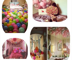 lovely, pink, and ballons image