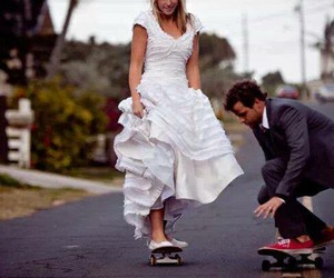 couple, skate, and love image