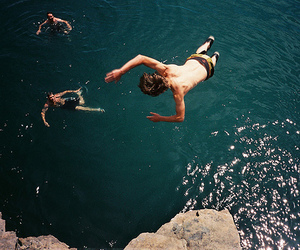 heart, water, and jump image