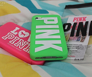 pink, love pink, and iphone image