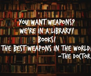 book, library, and doctor who image
