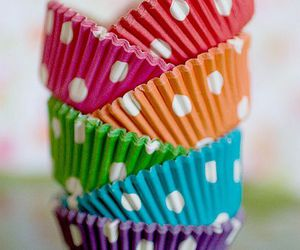 cute, colorful, and polka dots image